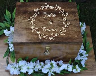 Wedding Ceremony Box, Personalized Wine Box, Time Capsule, Custom Wine Box, Double Wine Bottle Box, Wine Ceremony, Wedding Vow Holder, Box