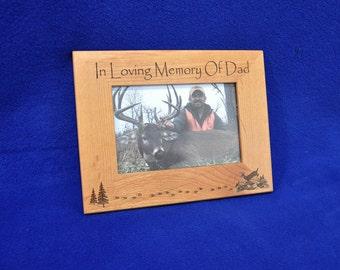 Sympathy Gift Father ~ In Memory Of Dad ~ Sympathy Gift ~ Sympathy Gift Men ~ Deer Hunting Gift ~ Loss Of Dad ~ Hunting Frame ~ Hunting Gift