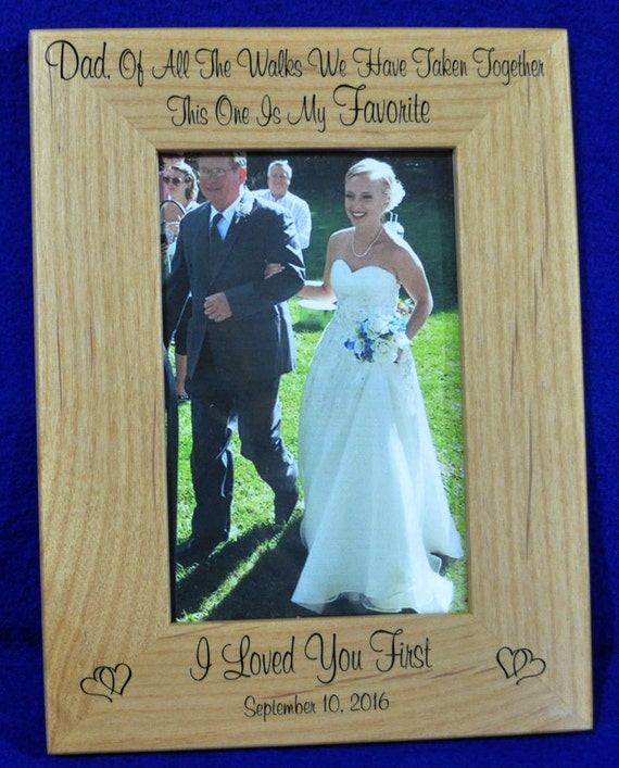 Dad Gift Father Of The Bride Frame Gift For Dad Birthday Etsy