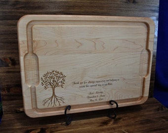 Wedding Gift For Parents ~ Parents Of The Groom Gift ~ Custom Cutting Board ~ Parents Of The Bride Gift ~ Gifts For Parents ~ Wedding Gifts