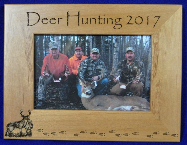 Birthday Gift For Dad ~ Gift For Husband ~ Hunting Gift ~ Engraved Hunting Frame ~ Deer Hunting ~ Deer Hunting Frame ~ Deer ~ Fathers Day ~