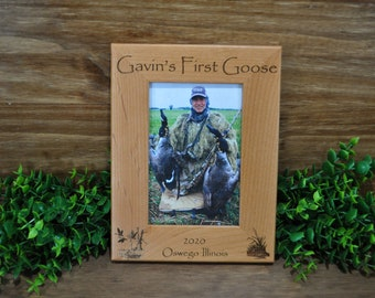 Goose Hunting ~ Hunting Frame ~ Hunting Picture Frame ~ First Hunt Frame ~ Gift For Hunters ~ Gift For Husband ~ Geese ~ Goose Hunting Frame