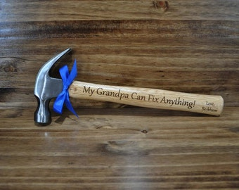 Christmas Gift For Grandpa ~ Gift For Grandpa ~ Grandpa Birthday ~ Engraved Hammer ~ Grandfather Gift ~  Personalized Hammer ~ Dad Gifts