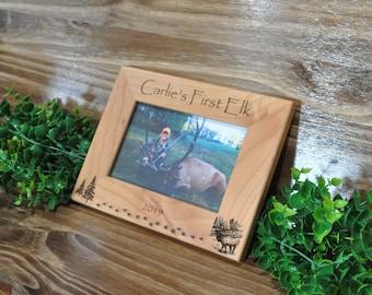 First Elk, First Elk Frame, Hunting, Elk Hunting, Hunting Frame, Hunting Gift, Gift For Hunter, Hunting Picture Frame, Elk Hunter Gift, Elk