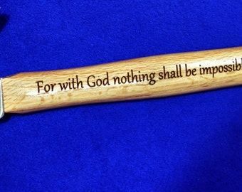 Christian Gift ~ Gift For Pastor ~ Gift For Clergy ~ Engraved Hammer ~ Engraved Gift For Pastor ~ Church Worker Gift ~ Bible Verse Gift ~