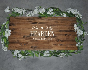 Alternative Wedding Guest Book | Wedding Decor | Last Name Sign | Rustic Wood Sign | Wood Sign | Personalized Sign | Guest Book For Wedding