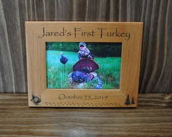 First Turkey Frame ~ First Turkey ~ Turkey Hunting ~ 1st Turkey ~ Gift For Hunter ~Turkey Hunter Gift ~ Hunting Frame ~ Childs First Turkey