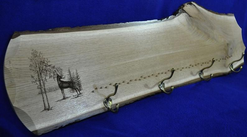 Christmas Gift For Husband  Gift For Deer Hunter  Coat Rack image 0