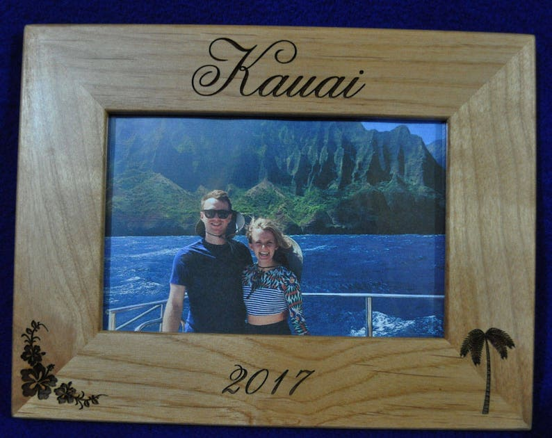 Vacation Frame  Vacation Gift  Engraved Frame  Wedding Gift image 0