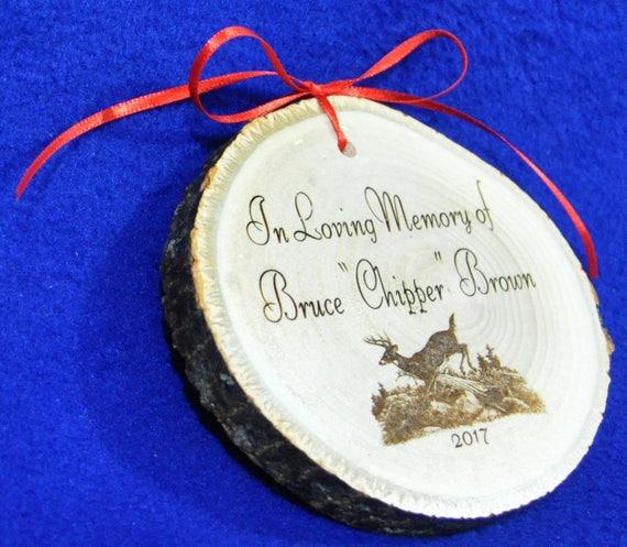In Loving Memory Ornament Sympathy Gift Christmas Ornament Etsy