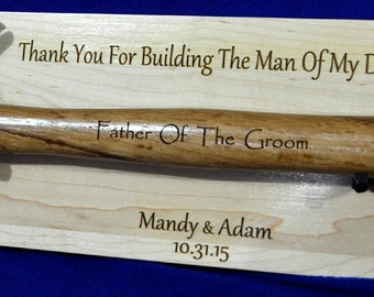 Parents Of The Groom ~ Father Of The Groom ~ Engraved Hammer ~ Stepfather Of The Groom ~ Gift For Parent Of The Groom ~ Wedding Gift For Dad