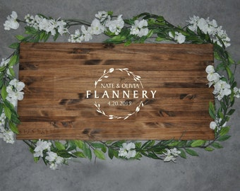 Guest Book | Alternative Wedding Guest Book | Wedding Decor | Last Name Sign | Rustic Wood Sign | Wood Sign | Personalized Wedding Signs |