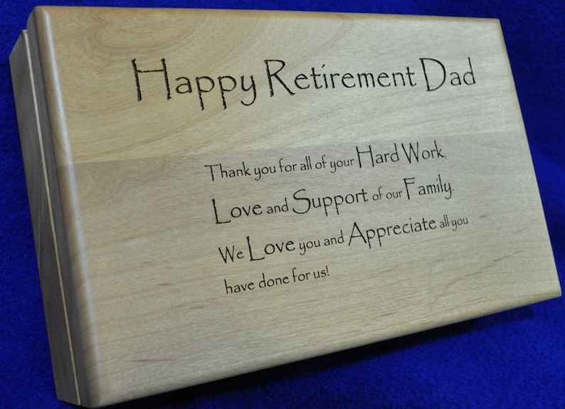 Retirement Gift  Retirement Gift For Dad  Engraved Wood image 0