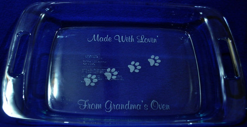 Gift For Pet Lover  Gift For Cook  Engraved Baking Pan  image 0