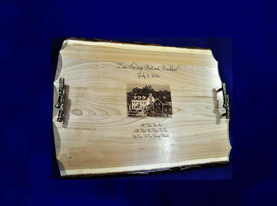 Wedding Gift To Parents Engraved Photo On Wood Engraved Etsy