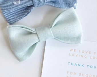 66598f7a0d1a Light Blue Linen Bow Tie. Robins Egg Blue Biw Tie. Adjustable Bow Tie, Boys  Bow Tie, Toddler Bow Tie, Baby Bow Tie