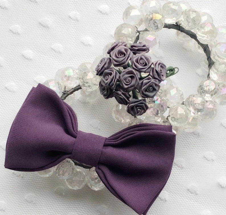 bf50f10a8bf7 Wisteria Coloured Bow Tie Purple Bow Tie Ring Bearer Bow | Etsy