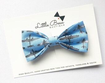 Airplane Bow Tie | Plane Theme | World Theme | Travel Theme | Hot Air Balloon Theme | Boys Bow Ties, Toddler Bow Tie, Kids Bowties