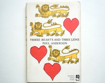 Rare Edward Gorey Cover Art Three Hearts and Three Lions by Poul Anderson Doubleday Science in Dust Jacket
