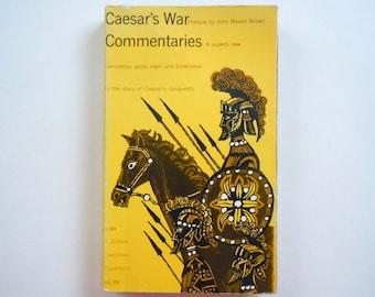 Milton Glaser Cover Art Caesar's War Commentaries Dutton Paperback Edition Translated by John Warrington