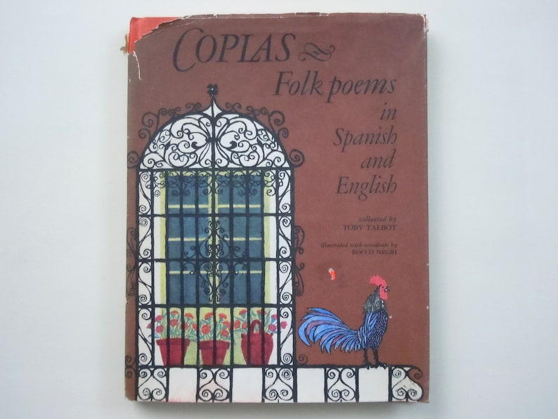 Bilingual Spanish English Coplas Folk Poems From Spain Collected By Toby Talbot Woodcut Illustrations By Rocco Negri