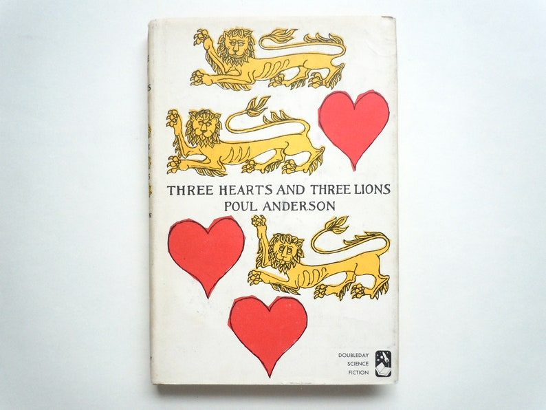 Rare Edward Gorey Cover Art Three Hearts and Three Lions by image 0
