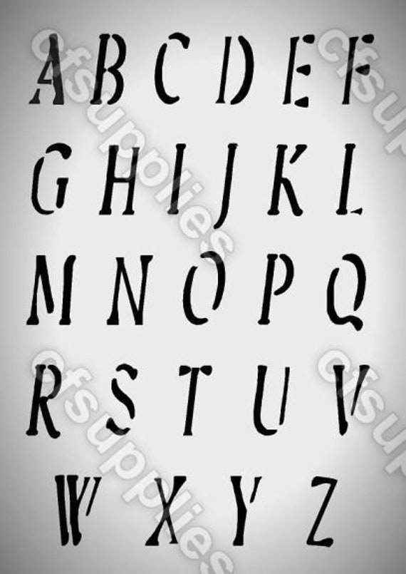 Alphabet Letters MYLAR STENCIL French VINTAGE FONT craft arts 190 micron A4//A3