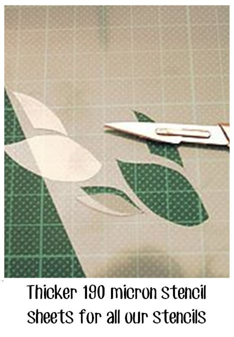 190 micron Shabby Chic French Vintage Stencils in A3A4A5 sheet sizes #258