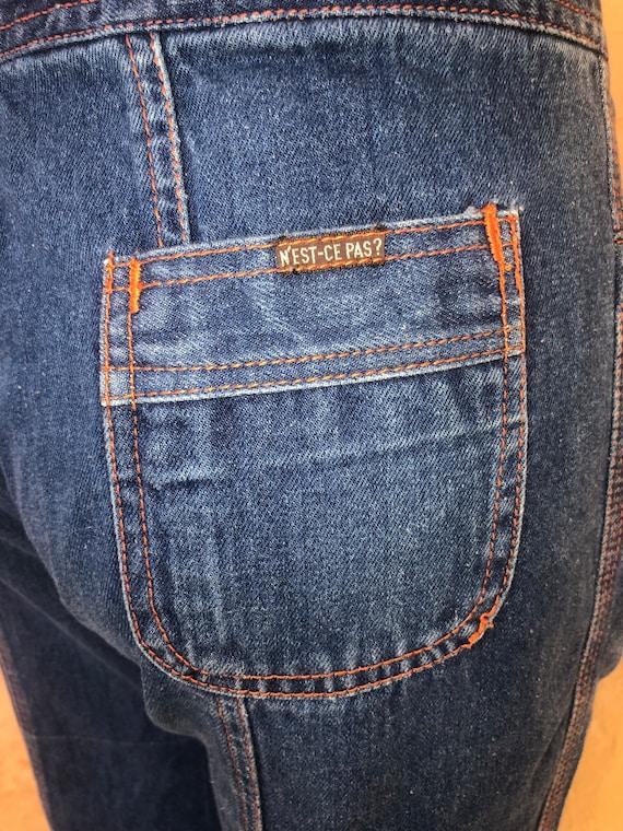 N'est Ce Pas Star Jeans Vintage 70s Denim Jeans W… - image 8