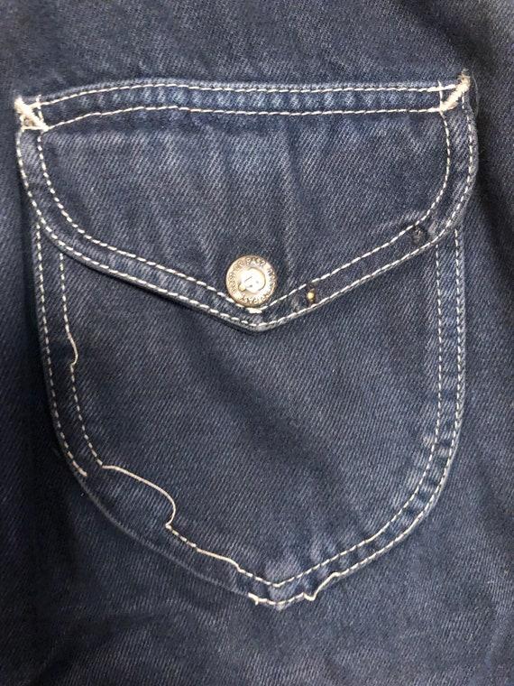 Vintage 1970s N'est Ce Pas BLACK Denim Overalls J… - image 9