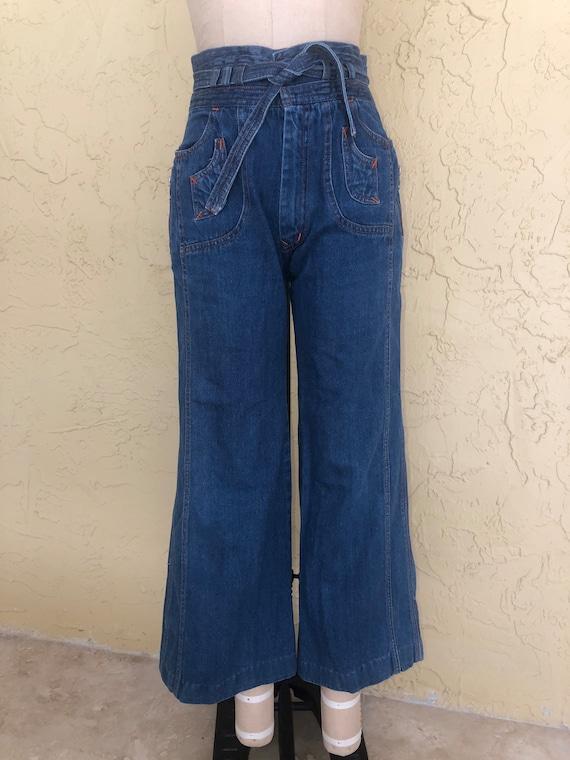 N'est Ce Pas Star Jeans Vintage 70s Denim Jeans W… - image 1