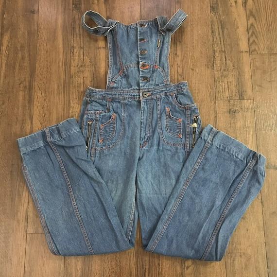 Vintage 1970s N'est Ce Pas Denim Overalls Jumpsuit