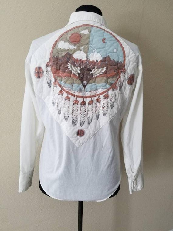 Vintage 70s Shirt Western Southwestern County West