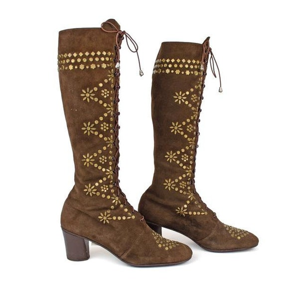 Vintage Jerry Edouard Vintage 60s Gogo Boots Brown