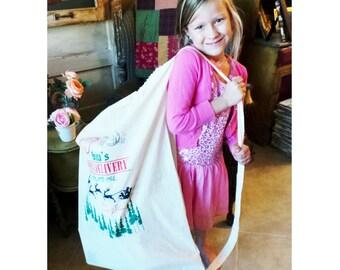 34in x 24in HUGE Santa Sack. Santa Bag. Present Sack. Christmas Stocking. Childrens Christmas. Christmas Sack. Christmas Presents. Unique