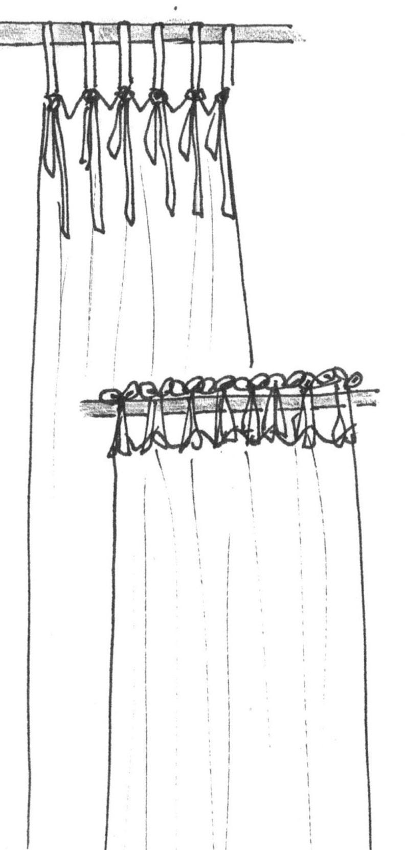 Tie Top Valance or Tie Top Drapery Panel