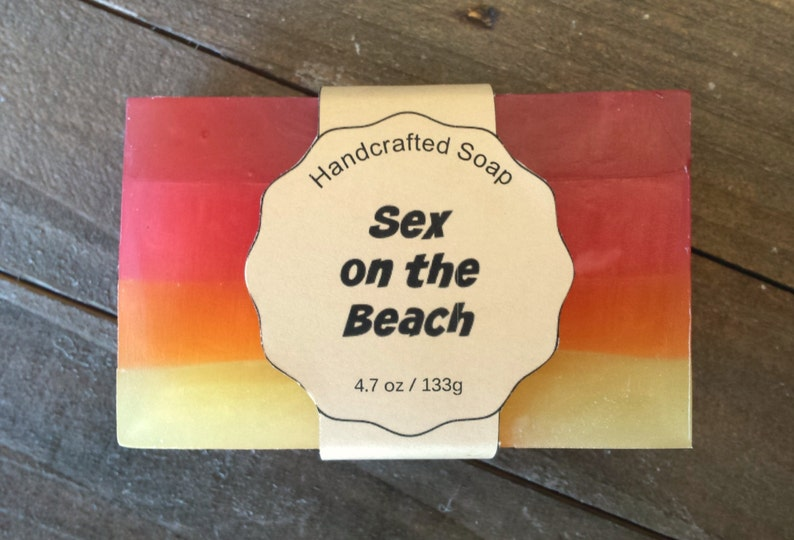 Sex on the Beach Soap  Fruity Soap  Alcohol Soap  Colorful image 0