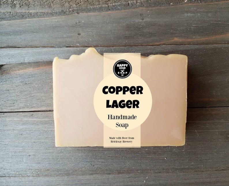 Copper Lager Beer Soap  Mens Soap  Natural Soap  Cocktail image 0