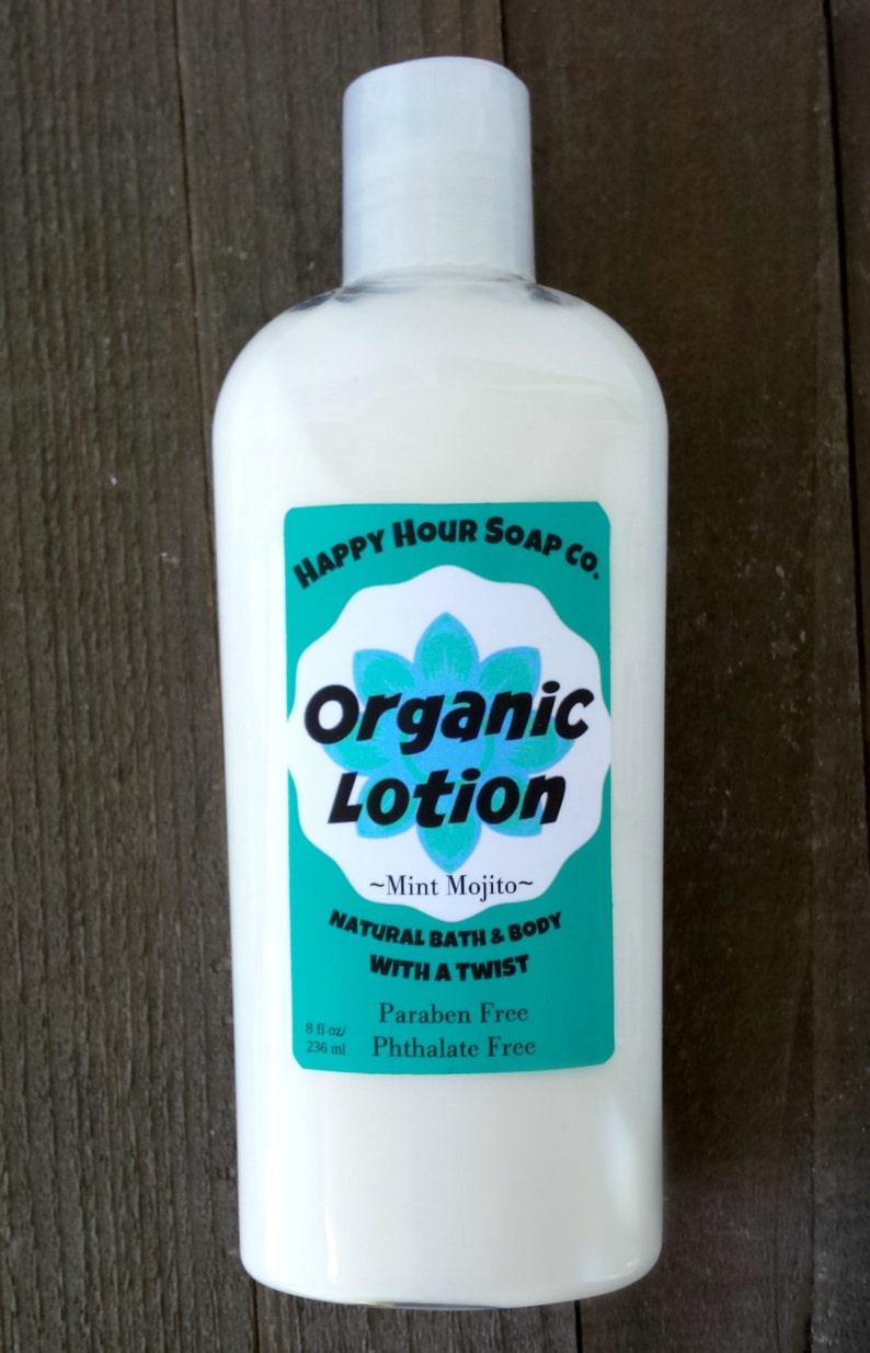 Organic Mojito Lotion  Organic Lotion  Paraben Free Lotion  image 0