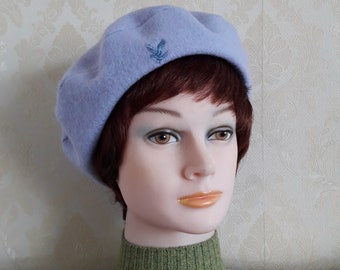 b02fa8ceb30 Posh pale lilac boiled wool Scottish tam soft warm French style beret pure  felted lambswool Highlander beret handmade classic wool beret