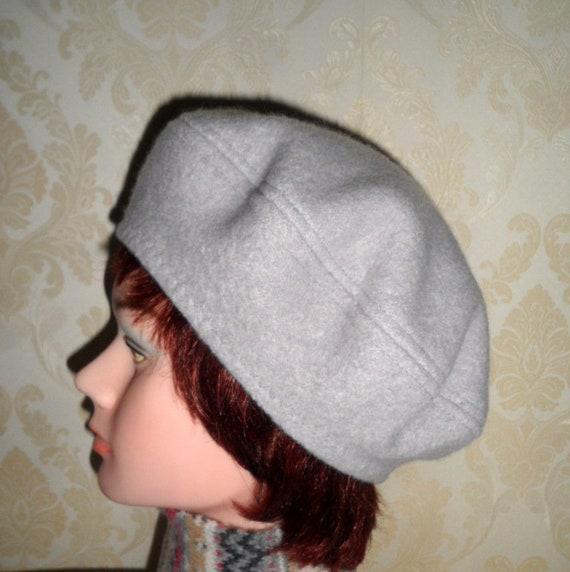 Unisex grey boiled wool Scottish tam beret French style warm  4efcf8dec9c