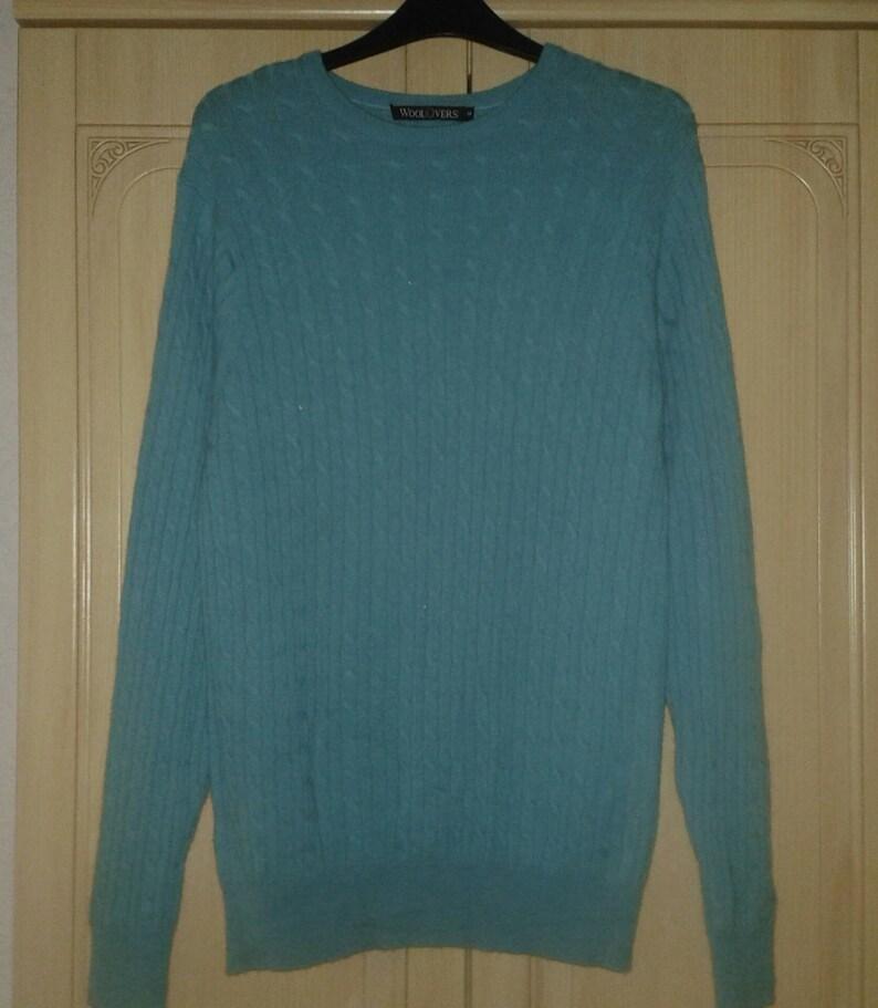 Maglia Lambswool di Merino verde smeraldo maglione di lana