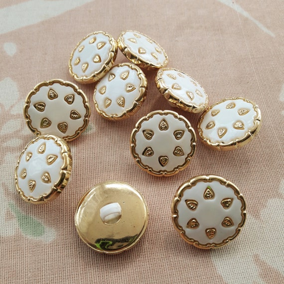 Gold Shank Button 21mm Dusty Pink
