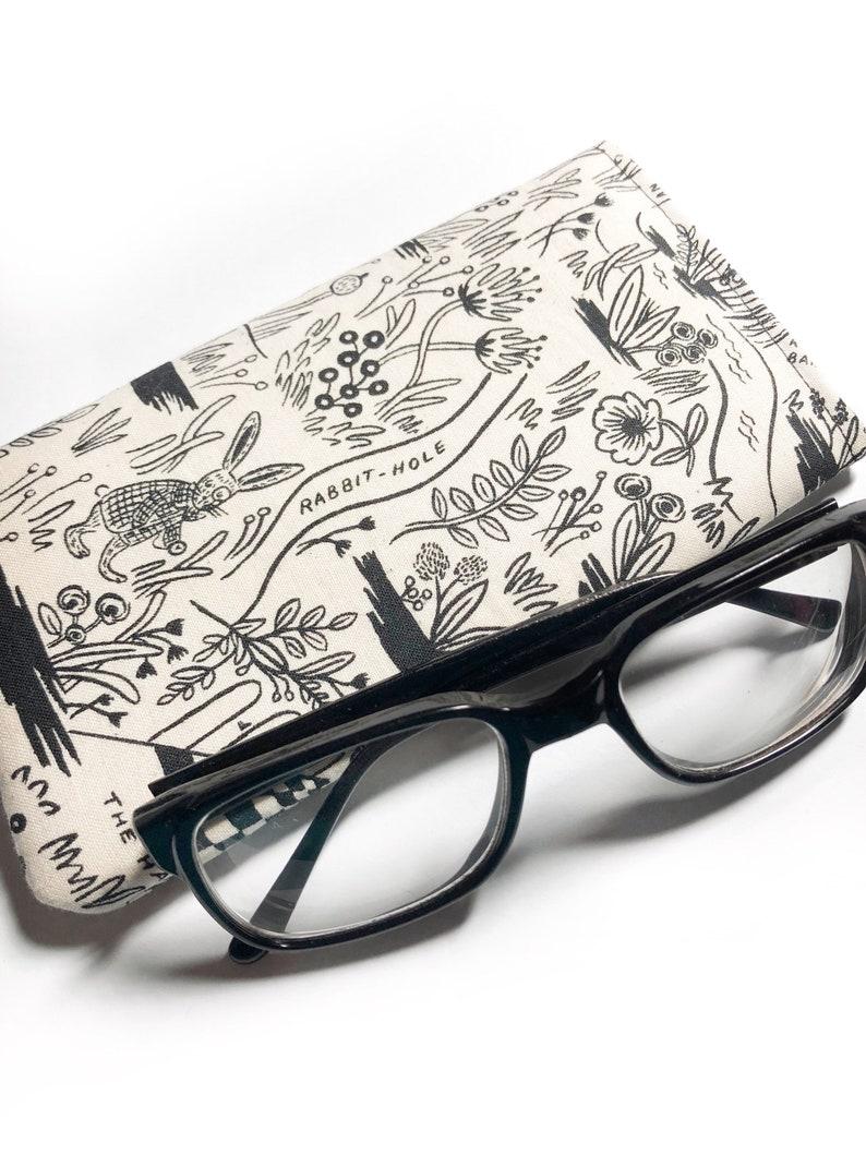 hipster glasses case teacher gift back to school gift glasses case hipster chic Alice in Wonderland eye glasses case graduation gift