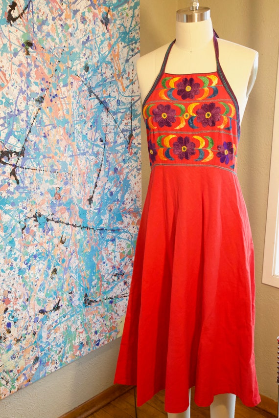 Vintage Carnaby Street Red Shisha Sundress with Mi