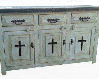 Templar Cross Rustic Bathroom Vanity