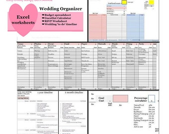 day of wedding spreadsheets day of timeline music list