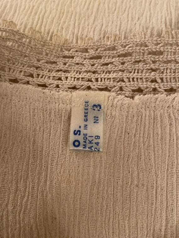 Lovely Blouse Made in Greece - Vintage Cotton Lac… - image 6