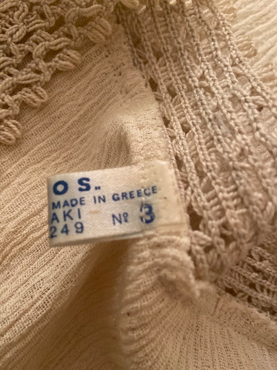Lovely Blouse Made in Greece - Vintage Cotton Lac… - image 8