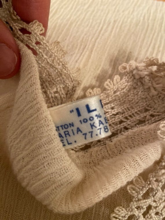 Lovely Blouse Made in Greece - Vintage Cotton Lac… - image 7